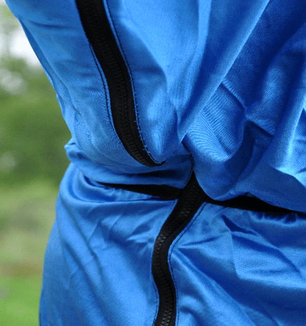 Eksemtäcke blått dragkedja