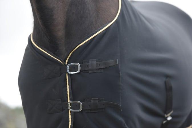 Quick dry fleecetäcke normalhals svart